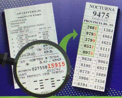 Comprobación de ticket no ganador en quiniela provincia de Buenos Aires